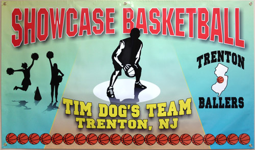 Showcase Basketball color banner